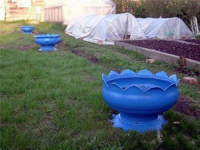 Planter made from old tires gardening pinterest - Planters made from old tires ...