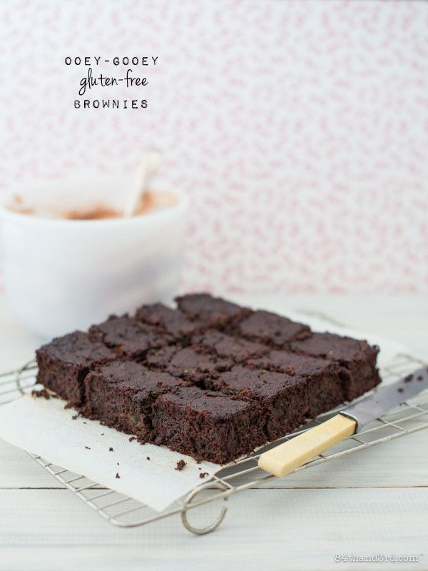 Ooey-Gooey Gluten Free Brownies - with a very unexpected ingredient