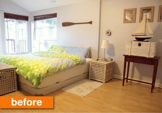 Before & After: A Rustic Nautical Bedroom Makeover