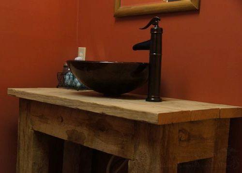 Rustic Bathroom Vanities Vessel Sinks Moss Cottage Pinterest