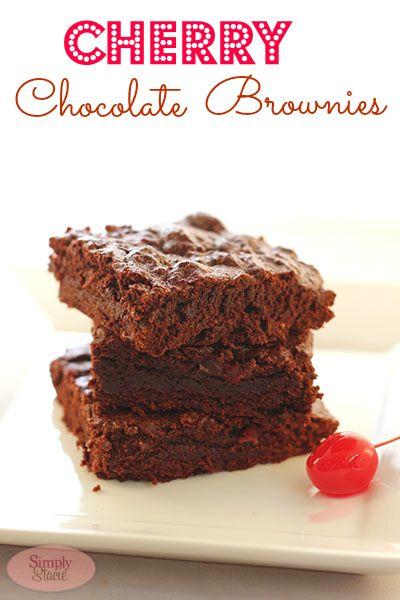 Cherry Chocolate Brownies from @Stacie Vaughan {SimplyStacie.net ...