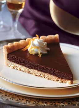 Bittersweet Chocolate-Citrus Tart with Jasmine Whipped Cream Recipe ...