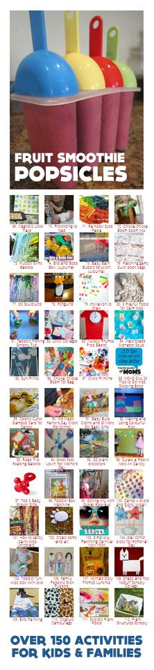 {Weekend Fun} Great collection of ideas, activities and recipes to keep the kids creatively entertained over the 3-day weekend. Happy Holiday Weekend!