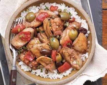 Chicken with Artichoke Hearts, Olives, and Capers | Recipe