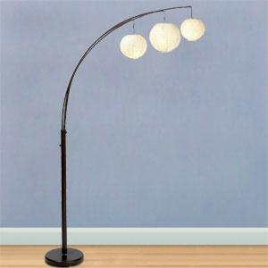 arc floor lamp w rice paper shades lights i like pinterest. Black Bedroom Furniture Sets. Home Design Ideas