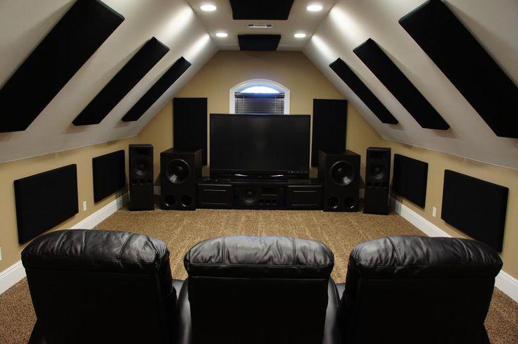 Man Cave Ideas Attic : Attic theater home designs pinterest