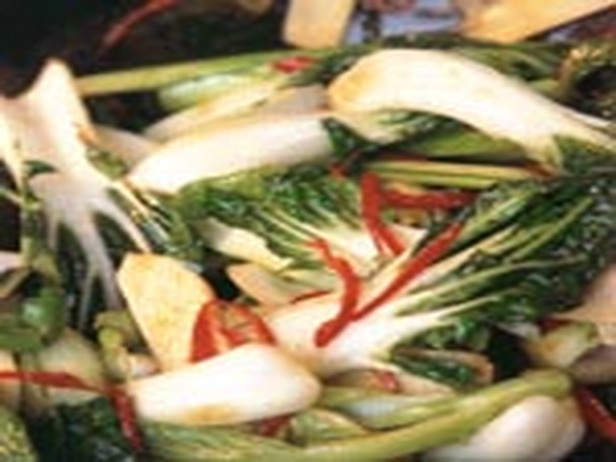 Stir-Fried Chinese Greens with Ginger, Oyster and Soy Sauce | Recipe