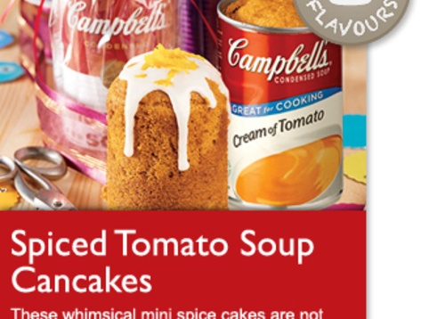 Spiced Tomato Soup Cancakes - my Mom used to make a tomato soup cake ...