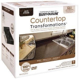 Countertop resurfacing kit... so we can renew the look of our kitchen!