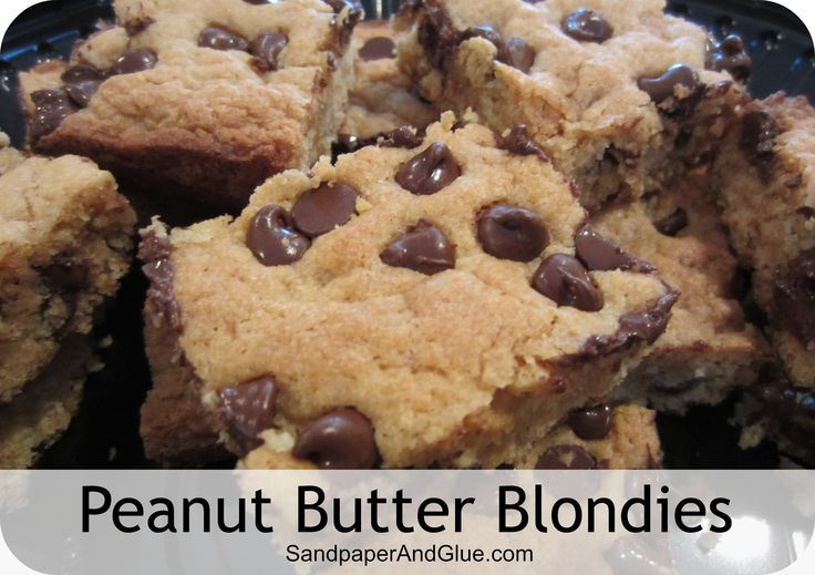 peanut butter chocolate chip blondies | Project Central: Things I've ...