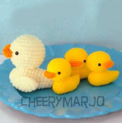Amigurumi To Go Duck : Crochet doll amigurumi PDF pattern - Mini Mama Duck and ...