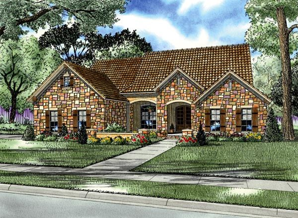 Italian mediterranean tuscan house plan 82114 for Tuscan house plan