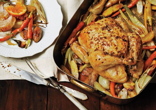 Roast Chicken with Fennel, Potatoes, and Citrus - a la Bon Appetit ...