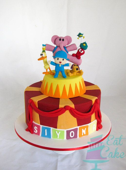 My Fave Pocoyo Cake Ever - by KiwiEatCake @ CakesDecor.com - cake decorating website