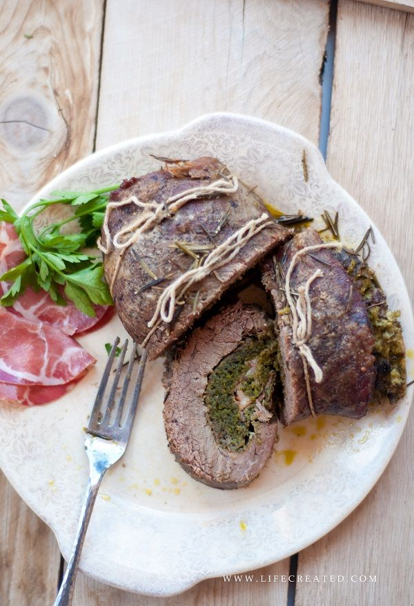 Rolled Flank Steak recipe on www.cookedwithlovebymom.com #recipe # ...