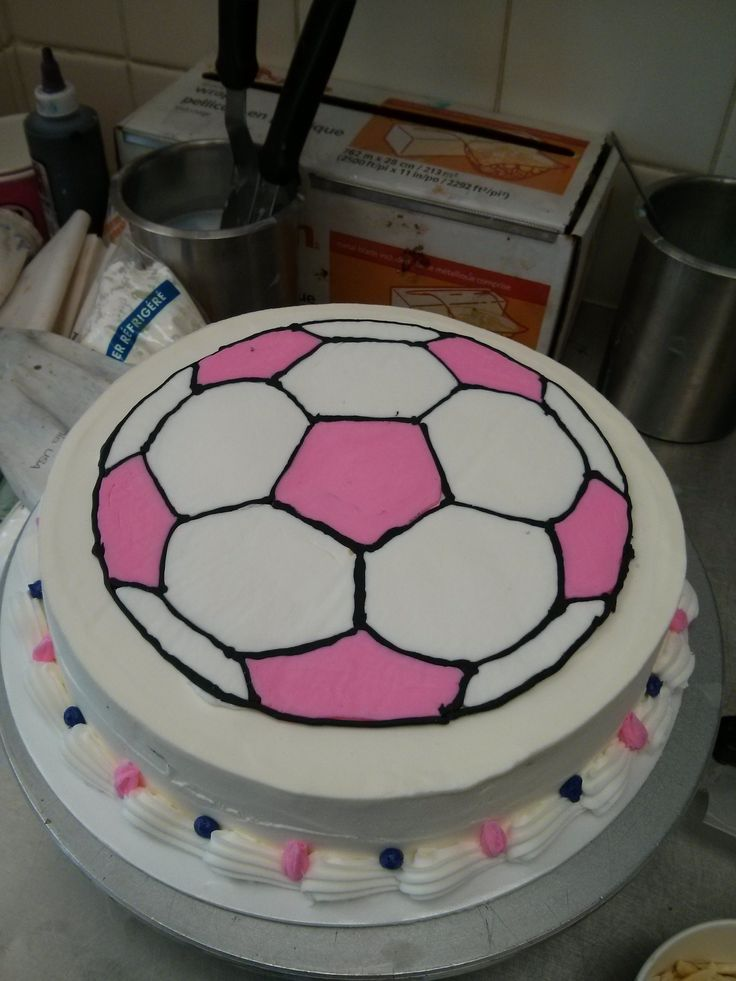 Ice Cream Soccer Ball Cake