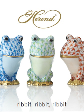 Each hand painted by Herend's master artisans the comical Leapin ...