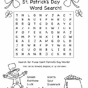 mutipule St. Patrick's day word searches | March Classroom Stuff | Pi ...