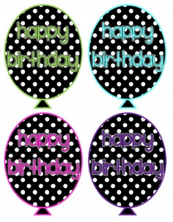 Birthday balloon template quot free quot for the top of my pixie stix