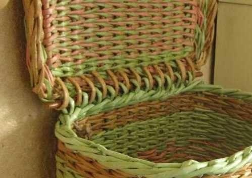 Плетение из газетных трубочек коробок с крышкой