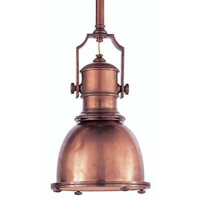 copper pendant light | vintage lighting