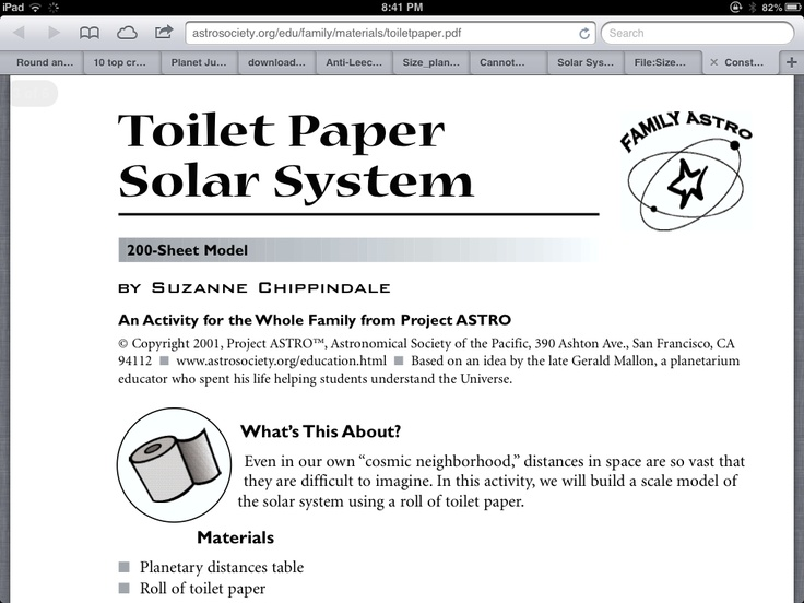 toilet paper solar system activity - photo #3