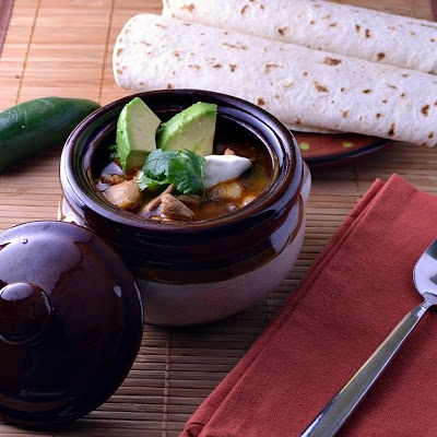 The Foodie Couple: Spicy Chicken Posole with Lime & Avocado