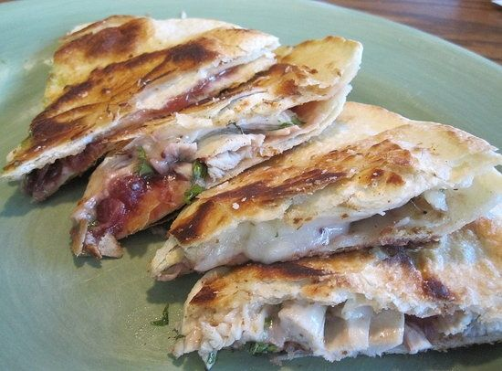 Turkey Cranberry Quesadillas | Recipes | Pinterest