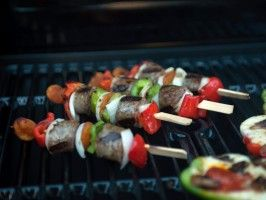 Sweet and Sour Smoked Chicken Sausage and Apricot Skewers from ...