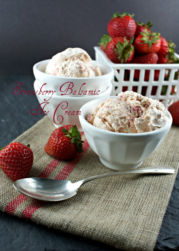 Strawberry Balsamic Ice Cream | Always Sundae Ice Cream | Pinterest