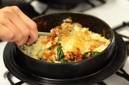 Vegetarian Korean Dolsot Bibimbap