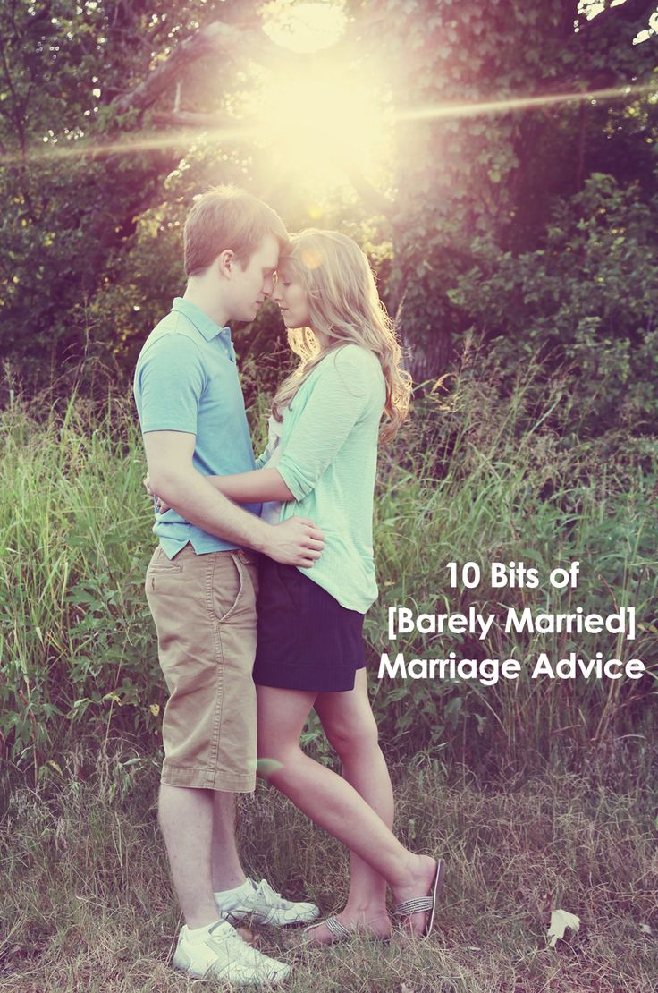Good perspective and advice for a newly married couple...I especially love #10: Fix things and Follow Christ!