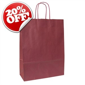 Italian Burnt Red Paper Carrier Bags with Twisted Handles - http://www.carrierbagshop.co.uk/Shop/Bags/Product/664/TW-BORDEAUX/ItalianBurntRedPaperCarrierBagswithTwistedHandles.aspx