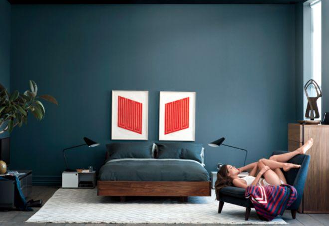Mens Modern Bedroom Wood Bed Frame Home Pinterest