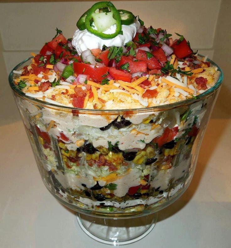 Layered southwest cornbread salad | Food, glorious food | Pinterest
