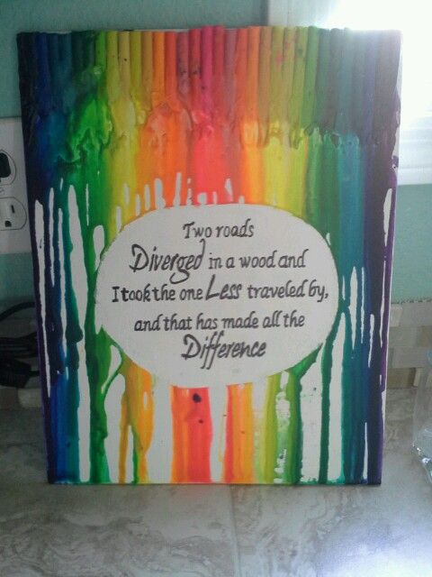 Melted crayon art quotes pinterest for Melted crayon art with quotes