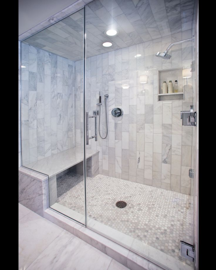 Carerra marble custom steam shower bathroom pinterest for Build steam shower