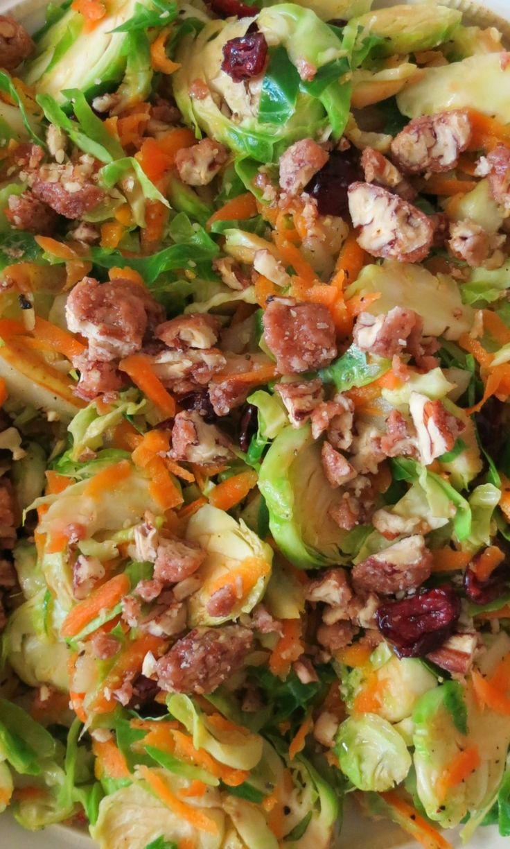 Roasted Brussels Sprouts With Onions, Bacon And Cranberries Recipes ...