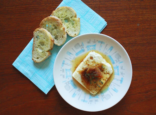Baked feta with fig & thyme compote. | food & drink | Pinterest