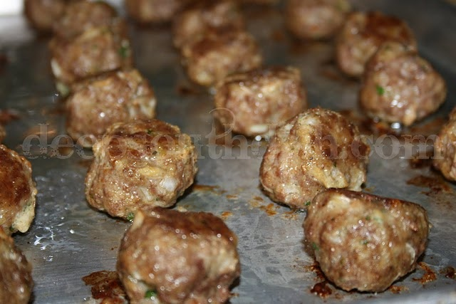 Basic meatball recipe, turned out really good.
