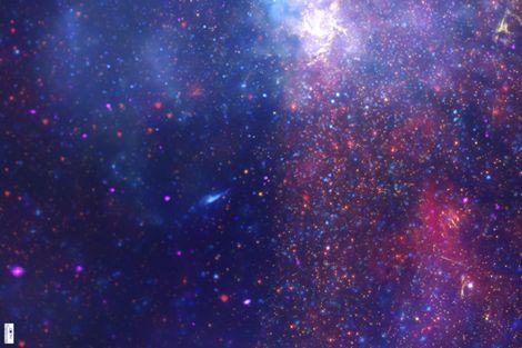 Blue and purple nebula pics about space for Nebula print fabric