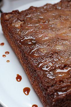 Banana Chocolate Chip Upside Down Cake. Moist & tender cake, chunks of ...