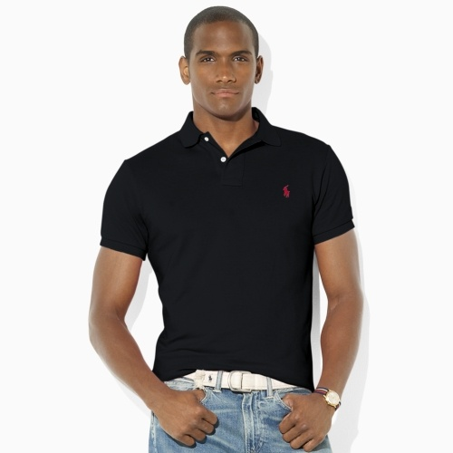 Slim-Fit Mesh Polo  Color: Polo Black  Size: S