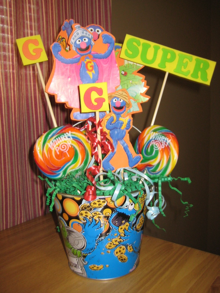sesame street baby shower centerpieces favors pinterest
