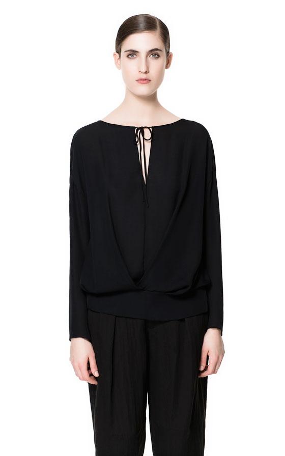 Zara Studio Silk Loose Blouse 92