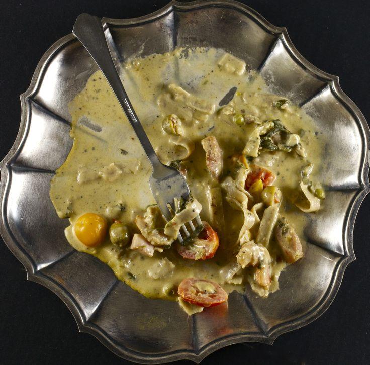 Shrimp and Artichoke Fettuccine | yum | Pinterest