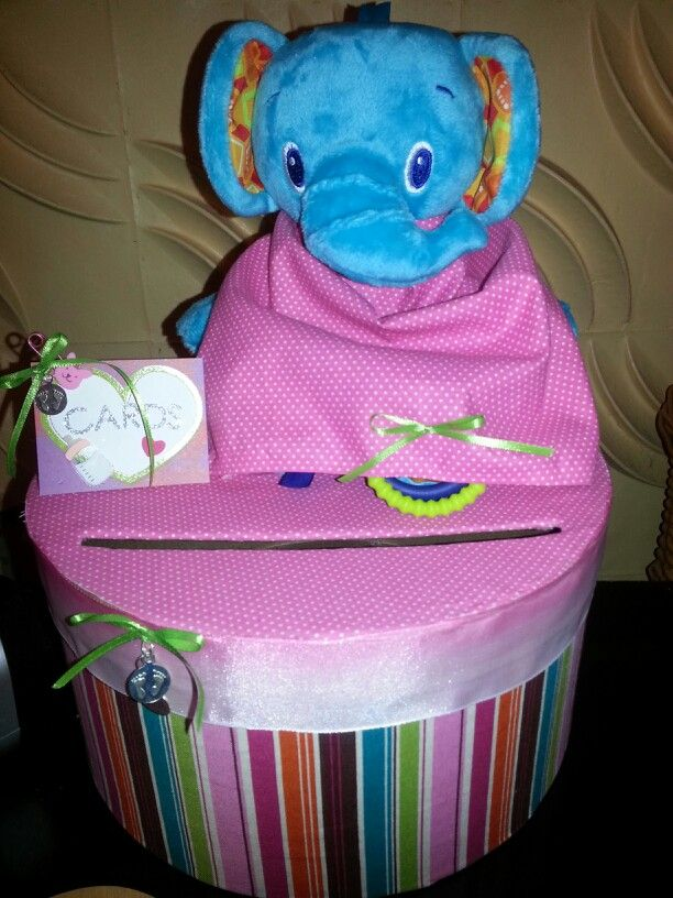 card box baby shower party planning pinterest