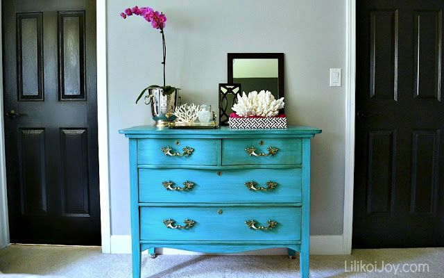 turquoise dresser makeover diy me pinterest
