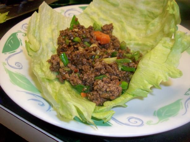 Chinese Spicy Beef Lettuce Wraps | Recipe