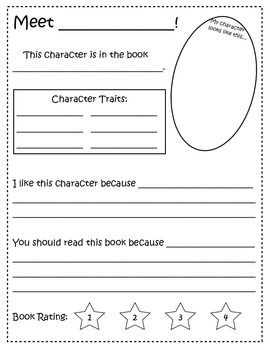 Book character report